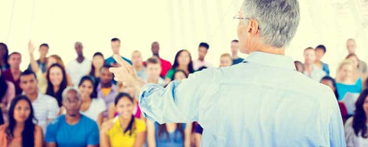 Teacher Faces Students