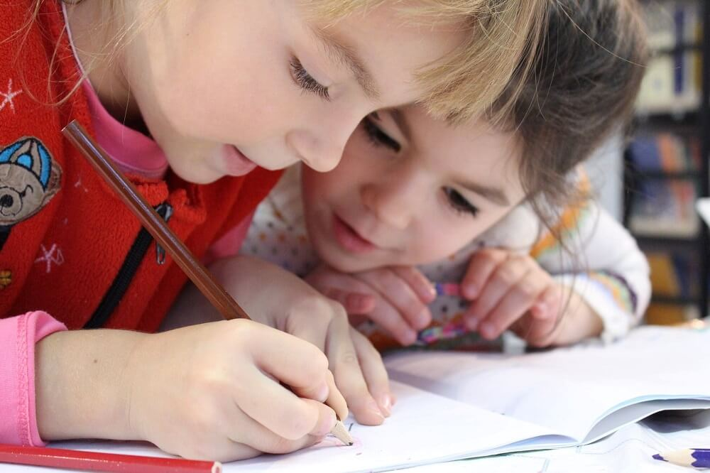 two children in a childcare centre